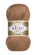 Пряжа для вязания Alize Diva (Ализе Дива) Цвет 261 красно коричневый