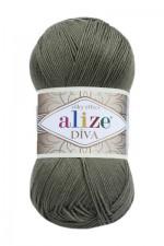 Пряжа для вязания Alize Diva (Ализе Дива) Цвет 273 хаки