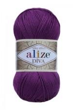 Пряжа для вязания Alize Diva (Ализе Дива) Цвет 297 слива