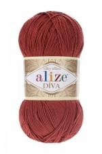 Пряжа для вязания Alize Diva (Ализе Дива) Цвет 320 красное дерево