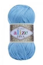 Пряжа для вязания Alize Diva (Ализе Дива) Цвет 346 светлая бирюза