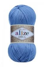 Пряжа для вязания Alize Diva (Ализе Дива) Цвет 347 лаванда