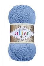 Пряжа для вязания Alize Diva (Ализе Дива) Цвет 350 светло голубой