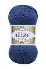 Пряжа для вязания Alize Diva (Ализе Дива) Цвет 353 джинсовый