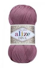 Пряжа для вязания Alize Diva (Ализе Дива) Цвет 354 сухая роза