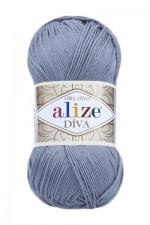 Пряжа для вязания Alize Diva (Ализе Дива) Цвет 355 светло серый