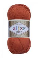 Пряжа для вязания Alize Diva (Ализе Дива) Цвет 36 терракот