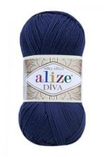 Пряжа для вязания Alize Diva (Ализе Дива) Цвет 361 темно синий