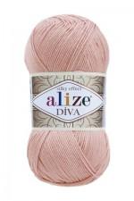 Пряжа для вязания Alize Diva (Ализе Дива) Цвет 363 нежно розовый
