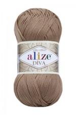 Пряжа для вязания Alize Diva (Ализе Дива) Цвет 369 карамель