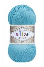 Пряжа для вязания Alize Diva (Ализе Дива) Цвет 376 светлая бирюза