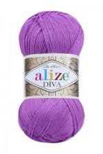 Пряжа для вязания Alize Diva (Ализе Дива) Цвет 378 орхидея