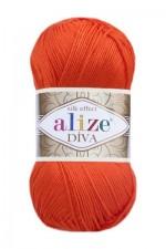 Пряжа для вязания Alize Diva (Ализе Дива) Цвет 407 алый