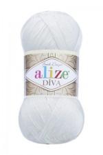 Пряжа для вязания Alize Diva (Ализе Дива) Цвет 450 жемчуг