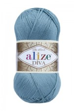 Пряжа для вязания Alize Diva (Ализе Дива) Цвет 463 лазурный