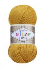Пряжа для вязания Alize Diva (Ализе Дива) Цвет 488 темно желтый