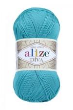 Пряжа для вязания Alize Diva (Ализе Дива) Цвет 610 изумруд
