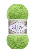 Пряжа для вязания Alize Diva (Ализе Дива) Цвет 612 зеленый неон