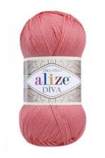 Пряжа для вязания Alize Diva (Ализе Дива) Цвет 619 коралловый