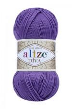 Пряжа для вязания Alize Diva (Ализе Дива) Цвет 622 фиолетовый