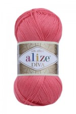 Пряжа для вязания Alize Diva (Ализе Дива) Цвет 661 гвоздика
