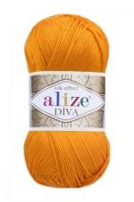 Пряжа для вязания Alize Diva (Ализе Дива) Цвет 83 тыква