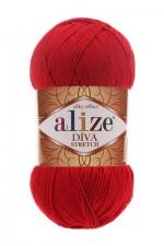Пряжа для вязания Alize Diva Stretch (Ализе Дива Стрейч) Цвет 106 красный