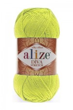 Пряжа для вязания Alize Diva Stretch (Ализе Дива Стрейч) Цвет 109 лайм
