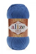 Пряжа для вязания Alize Diva Stretch (Ализе Дива Стрейч) Цвет 132 василек