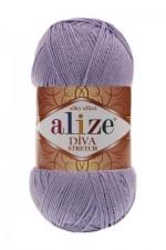 Пряжа для вязания Alize Diva Stretch (Ализе Дива Стретч) Цвет 158 сирень