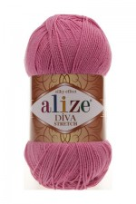 Пряжа для вязания Alize Diva Stretch (Ализе Дива Стрейч) Цвет 178 темно розовый