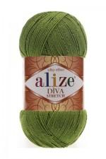 Пряжа для вязания Alize Diva Stretch (Ализе Дива Стрейч) Цвет 210 зеленый