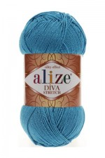 Пряжа для вязания Alize Diva Stretch (Ализе Дива Стрейч) Цвет 245 бирюза
