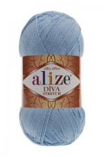 Пряжа для вязания Alize Diva Stretch (Ализе Дива Стрейч) Цвет 350 светло голубой