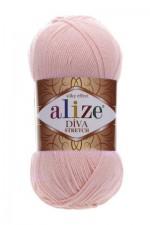 Пряжа для вязания Alize Diva Stretch (Ализе Дива Стрейч) Цвет 363 светло розовый