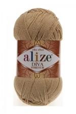 Пряжа для вязания Alize Diva Stretch (Ализе Дива Стрейч) Цвет 368 светло бежевый