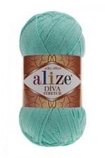 Пряжа для вязания Alize Diva Stretch (Ализе Дива Стрейч) Цвет 376 бирюзовый