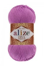 Пряжа для вязания Alize Diva Stretch (Ализе Дива Стрейч) Цвет 378 орхидея