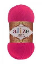 Пряжа для вязания Alize Diva Stretch (Ализе Дива Стрейч) Цвет 396 мак