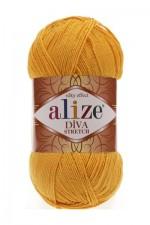 Пряжа для вязания Alize Diva Stretch (Ализе Дива Стрейч) Цвет 488 темно желтый