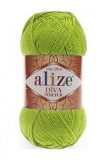 Пряжа для вязания Alize Diva Stretch (Ализе Дива Стретч) Цвет 612 зеленый неон