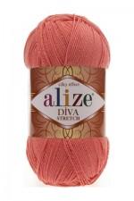 Пряжа для вязания Alize Diva Stretch (Ализе Дива Стрейч) Цвет 619 коралловый
