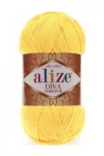Пряжа для вязания Alize Diva Stretch (Ализе Дива Стрейч) Цвет 643 лимон