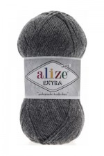 Пряжа для вязания Alize Extra (Ализе Экстра) Цвет 182 темно серый