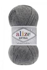 Пряжа для вязания Alize Extra (Ализе Экстра) Цвет 21 серый