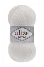 Пряжа для вязания Alize Extra (Ализе Экстра) Цвет 55 белый