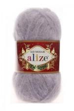 Пряжа для вязания Alize Kid Royal (Ализе Кид Роял) Цвет 52 серый