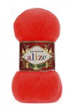 Пряжа для вязания Alize Kid Royal (Ализе Кид Роял) Цвет 56 красный