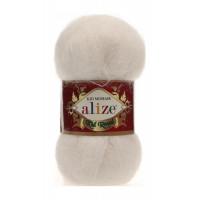 Пряжа для вязания Alize Kid Royal (Ализе Кид Роял) Цвет 62 кремовый