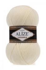 Пряжа Alize Lanagold (Ализе Лана Голд) Цвет 01 молочный